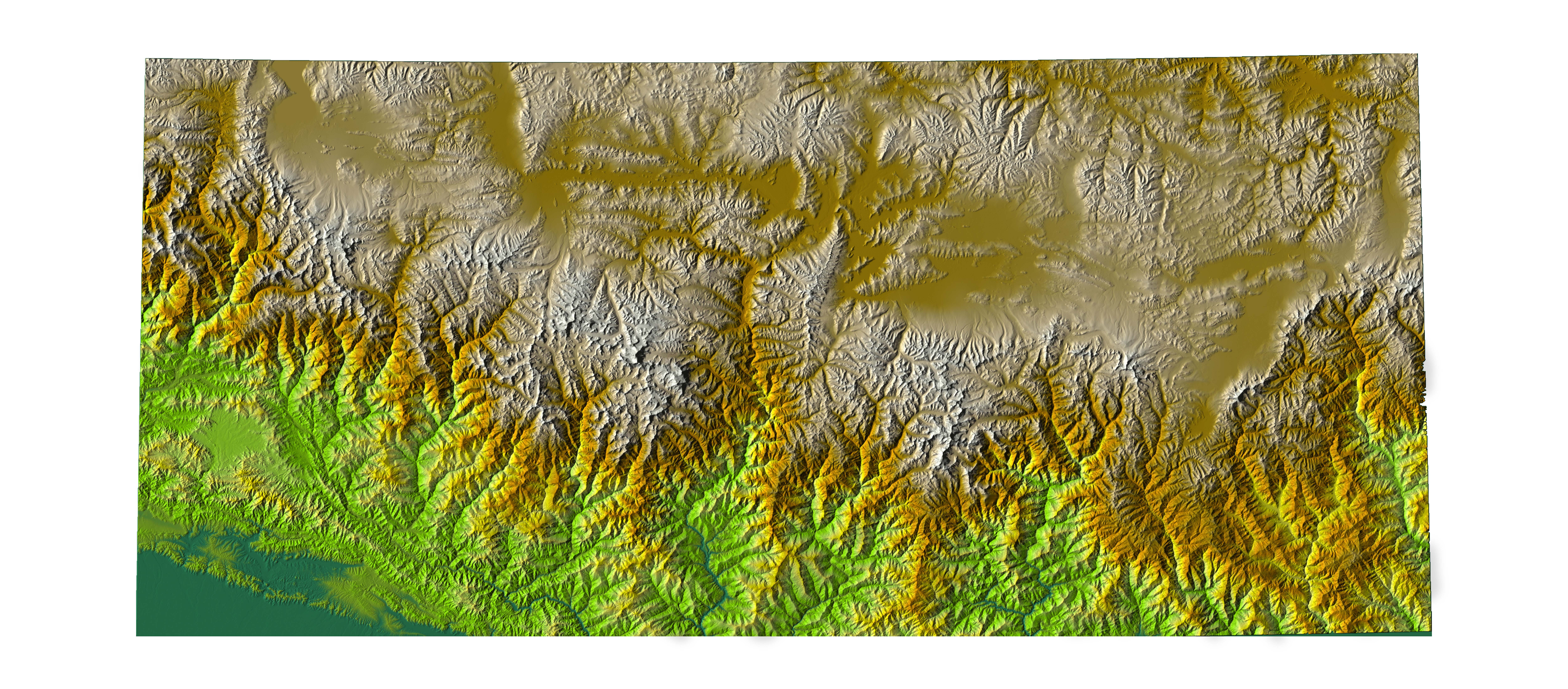 Digital Elevation Data With SRTM Voids Filled Using Accurate - Digital elevation model download